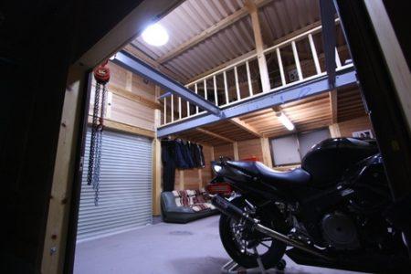 男の夢! バイクガレージ!